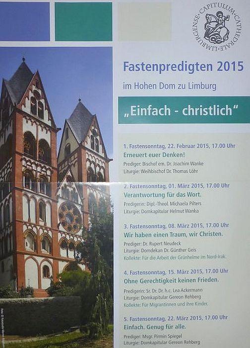 2015_Fastenpredigten Dom zu Limburg