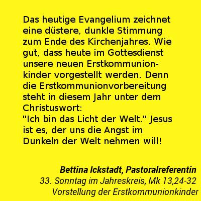 Zitat 33. Sonntag im Jahreskreis