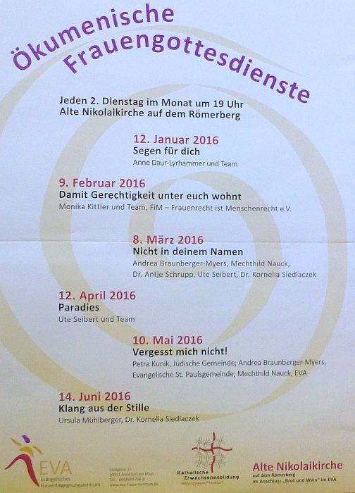 2016_Ökum. Frauengottesdienste
