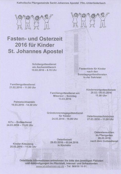 2016_Fastenzeit St. Johannes-Kinder