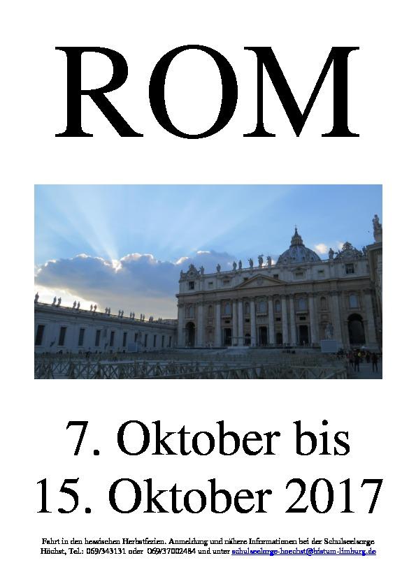 20170110_Romfahrt_Anmeldung_Plakat